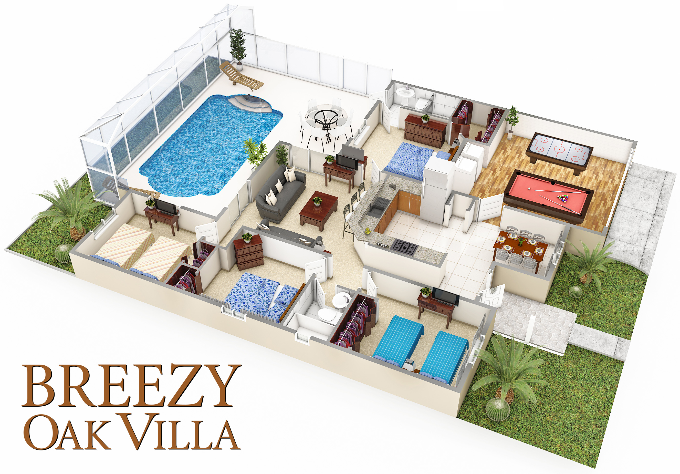 Breezy Oak Villa