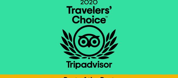 Breezy Oak Villas Wins 2020 TripAdvisor Travelers' Choice Best of the Best Award